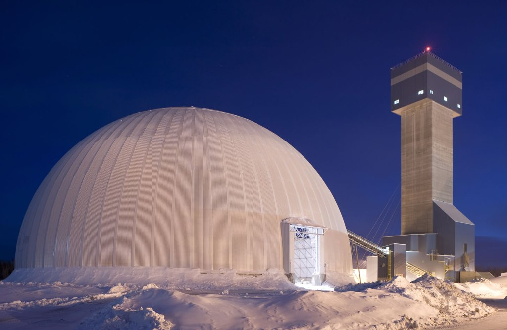 Industrial dome in Val D'Or, Quebec