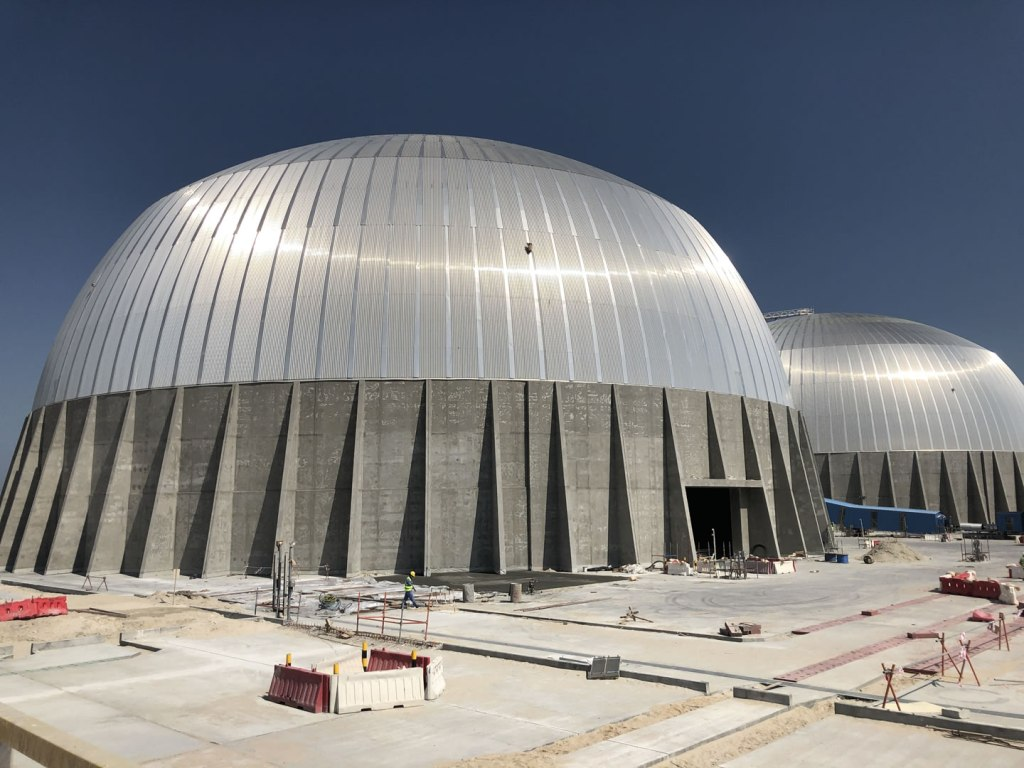 Al-Zour Sulfur Refinery Domes in Kuwait - click for details