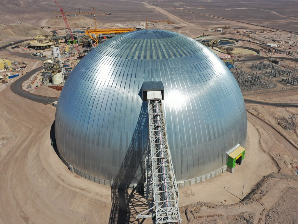 Spence Copper Mine Stockpile Dome - click for details